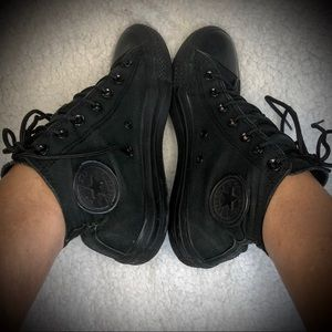 Converse Shoes - Converse All Star Black Unisex High Top Sn…